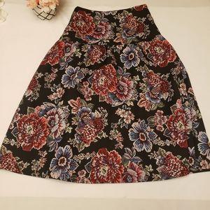 Zara Bell Midi Floral Tapestry Skirt